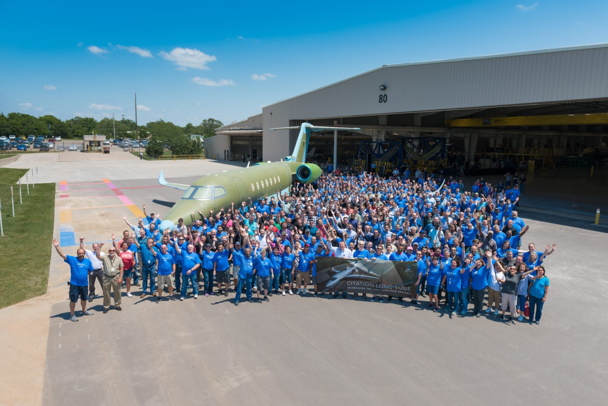 Textron Aviation rolls out first production Cessna Citation Longitude, introduces advanced manufacturing technologies to super-midsize market